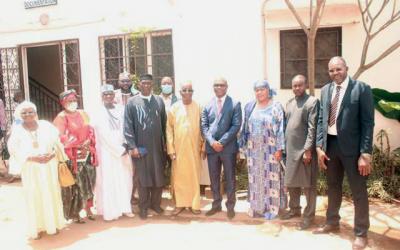 La CNDH reçoit une délégation importante de la cour constitutionnelle en visite de courtoisie
