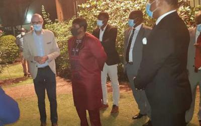 Le Président de la CNDH au cocktail offert par l'Ambassadeur, Chef de la délégation de l'Union à Fatou Bensouda