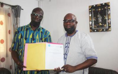 Signature d'un accord de coopération scientifique entre la CNDH et le Laboratoire d'Etudes et de Recherches en droit, décentralisation et développement local de la Faculté de Droit Public de l'USJPB