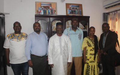 La CNDH reçoit une délégation de IDLO présidée par le Directeur Pays Me Jean Mutabesha